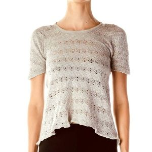 Knitted & Knotted Small Anthropology Sweater Gray